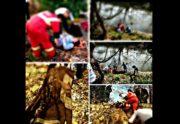 سقوط بانوی جوان به داخل رودخانه در بوسار رشت