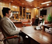 دیدار مدیرکل انتقال خون گیلان با فرماندار شهرستان رشت