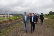 بازدید فرماندار رشت از خطوط راه آهن رشت قزوین