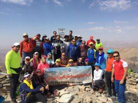 تیم کوهنوردی سازمان تامین اجتماعی به نیمه راه رسید
