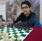 نائب قهرمانی ورزشکار گیلانی در رقابت های آنلاین شطرنج کشور
