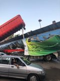 برخورد تریلی با پل عابرپیاده در محور آستانه اشرفیه به لاهیجان