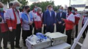 بازدید استاندار از امکانات امدادی، خدماتی و تجهیزاتی هلال احمر گیلان