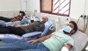 حضور ورزشکاران شهرستان لاهیجان در پایگاه انتقال خون