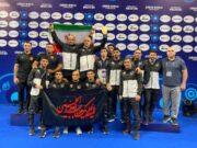 تیم ملی ایران در رقابت های کشتی آزاد جوانان قهرمانی جهان، بر بام نخست ایستاد