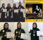 سه بانوی رزمی کار گیلانی در مسابقات بین المللی هنرهای رزمی خوش درخشیدند